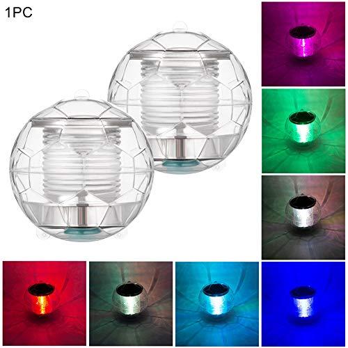 WERTAZ Unterwasser Licht Schwimmende Pool Licht LED Solar Wasserdicht Schwimmbecken Licht Farbwechsel Ball Lampe für Garten, Garten, Teich, Partydekor