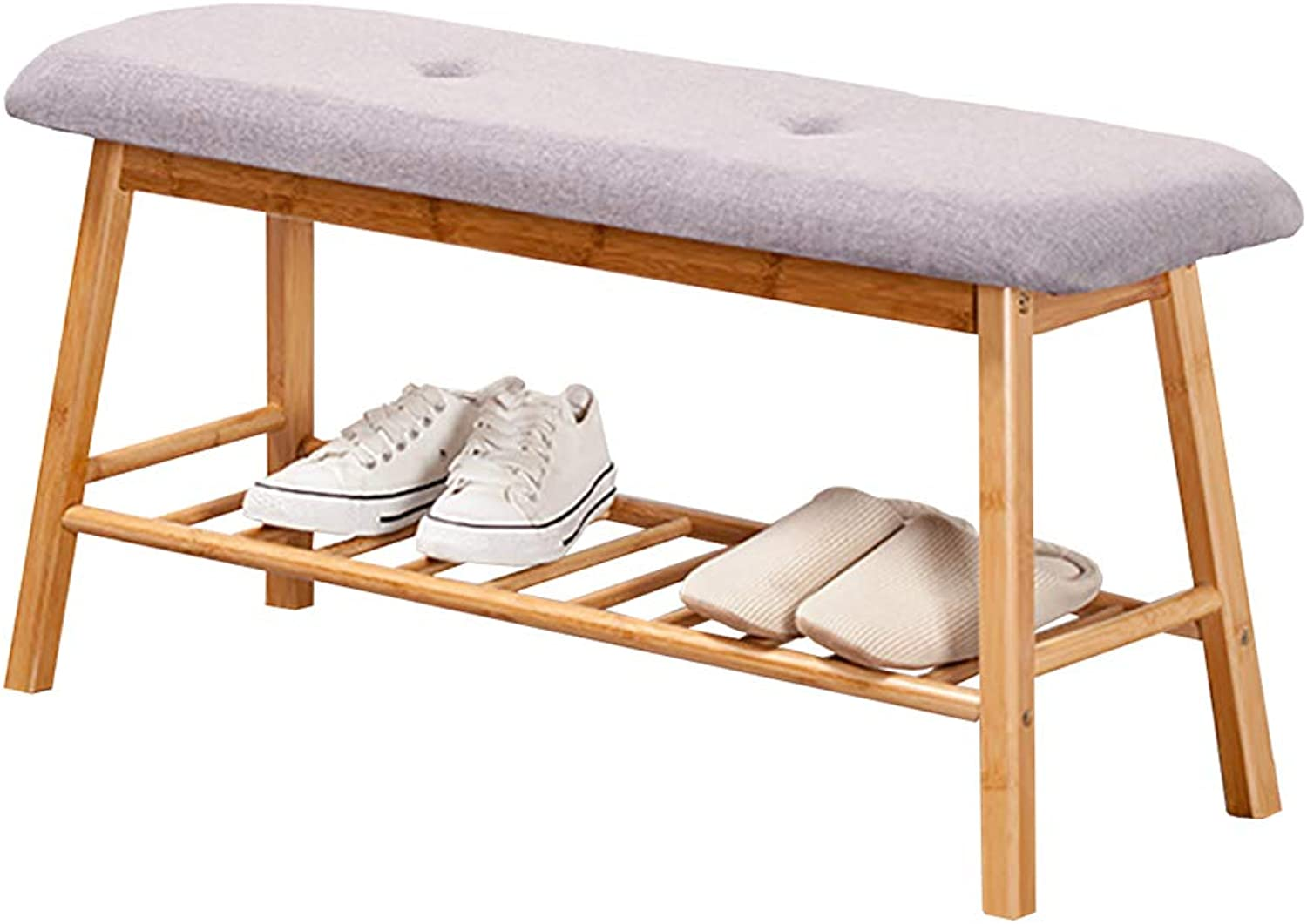 Change shoes Bench, Solid Wood Simple shoes Bench, Hall Stool, Sitting shoes Bench, 2 colors (color   A)