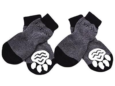 EXPAWLORER Anti-Slip Dog Socks for Indoor Wear, Paw Protection by EXPAWLORER