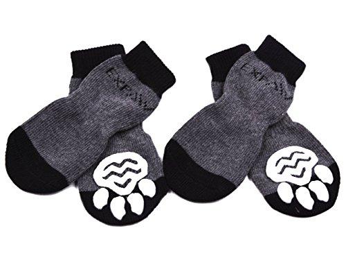 EXPAWLORER - Chaussettes pour chien antidérapantes pour une utilisation en intérieur, protection des pattes