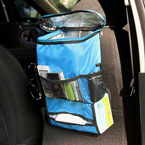Suspension de Organiseur pour dossier de siège de voiture type Heat-protecting Sac de rangement, Bleu