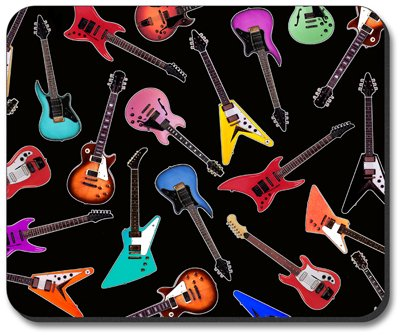 Guitars - Electric Mouse Pad - by Art Plates - Image by Dan Morris