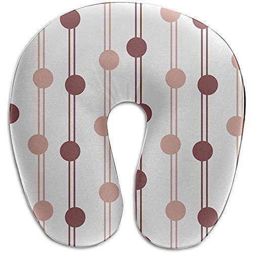 Warm-Breeze Relax Nackenkissen Helle Farbe Geometrischer Streifen U-förmig michmory Foam Neck Pillow Reisekissen Baby Reisekissen