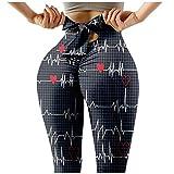 Mallas de Deporte de Mujer Leggins de Deporte Leggings de Elásticos Cintura Alta con Estampado de Mariposas para Reducir Vientre Fitness Yoga
