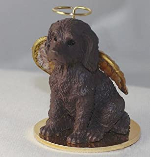 chocolate labradoodle ornament
