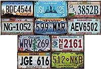 Lot de 10 plaques d'immatriculation américaines, voir photo Répliques authentiques de plaques existantes ou ayant existées 30x15 cms en métal Objets de collection et de décoration Une idée cadeau !