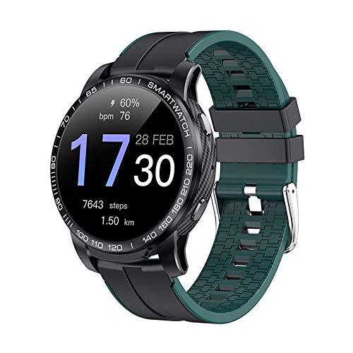 Reloj Inteligente, rastreadores de Ejercicios para Mujeres y Hombres con Monitor de frecuencia cardíaca, Reloj Inteligente Impermeable para Deportes al Aire Libre con Contador de calorías-D