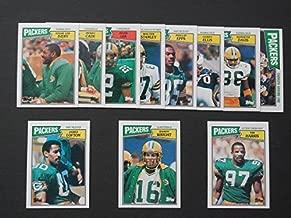 Green Bay Packers 1987 Topps Football Team Set ***Mossy Cade, Kenneth Davis, Gerry Ellis, Phillip Epps, Tim Harris, Eddie Lee Ivery, Mark Lee, James Lofton, Walter Stanley, Randy Wright***
