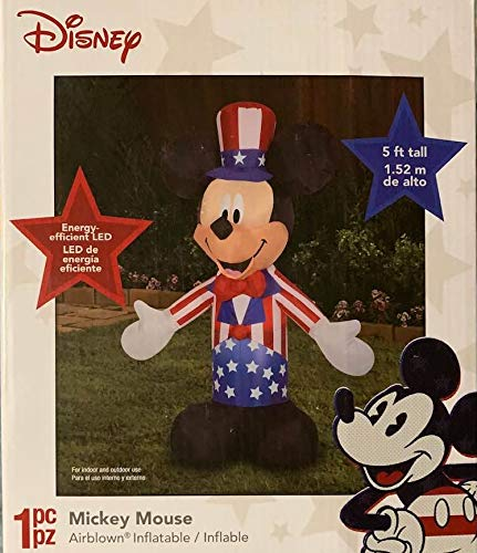 Patriotic Inflatable 5' Mickey Mouse Uncle Minneapolis Mall Sam July Holid Seasonal Wrap Introduction of 4th