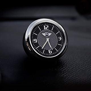 KINBEAR لوحة عدادات السيارة الصغيرة ساعة كوارتز الملحقات الداخلية عالية الدقة قرص مضيء مع مشبك تنفيس زينة إعادة فت