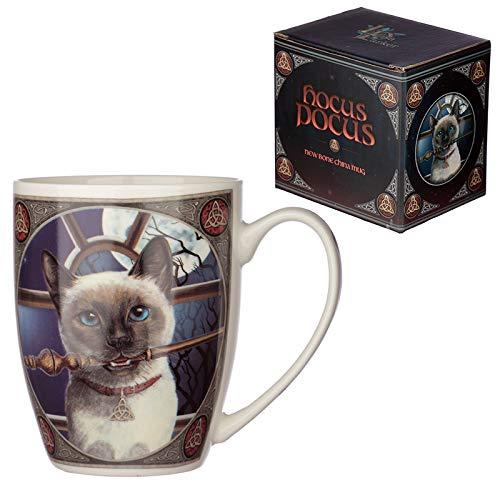 Lisa Parker HOCUS POKUS zauber Katze Zaubestab Porzellan Tasse