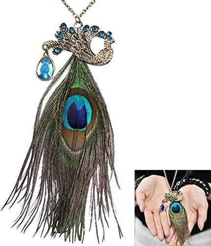 Zirkonia-bloemen lange verstelbare ketting hangende gebreide jas halsketting (vintage barnsteen), kleur naam: gelukkige dubbele holle bollen