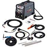 MTS-185, 185A MIG Wire Feed/Flux Core/TIG Torch/Stick Arc Welder, Weld Aluminum with 2T/4T 110/230V Welding