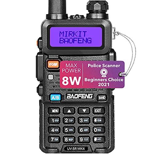 Mirkit Ham Radio Baofeng UV-5R MK4 8 Watt Max Power 2021 Two Way Radio with 1800 mAh Li-Ion Battery Pack and Mirkit Lanyard for your Baofeng Radio and Mirkit Software for Walkie Talkie