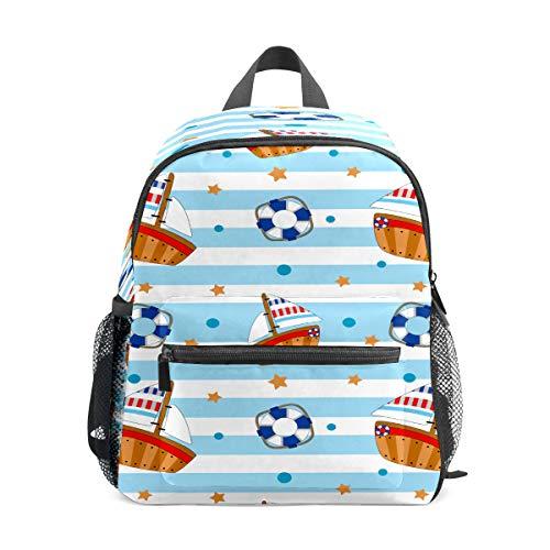 Kinder-Rucksack für Vorschule, für Jungen und Mädchen, leicht, für 1–6 Jahre, perfekter Rucksack für Kleinkinder im Kindergarten, Ozean, Boot, Rettungsboot