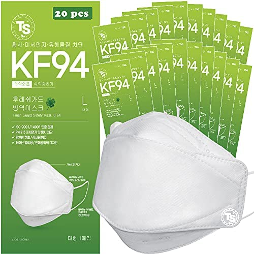 【 20 specialty shop Max 50% OFF Pack 】 TS KF94 Face Guard Mask Fresh Safety Certified