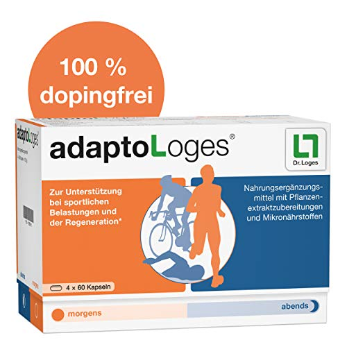 adaptoLoges Nahrungsergänzungsmittel für den Sport - 240 Kapseln, zur Unterstützung der Regeneration nach dem Sport