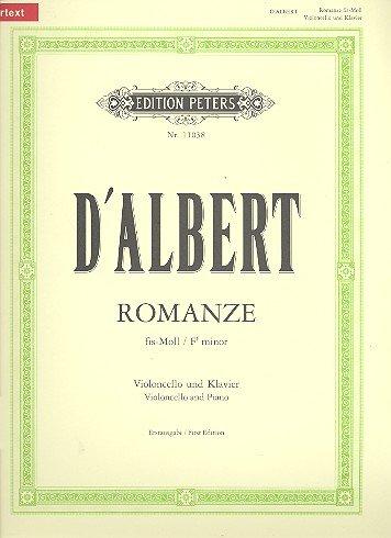 Romanze Fis-Moll. Violoncello, Klavier