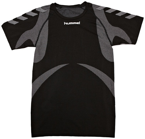 Hummel Kinder Baselayer Jersey S/S, Black/Dark Grey, 10-12 (140-152)