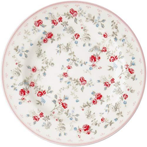GreenGate Teller Carly Weiß 15 cm Porzellan Geschirr Kuchenteller Dessertteller