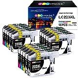 GPC Image LC223 Druckerpatronen kompatibel für Brother LC-223 XL für Brother MFC-J5320DW MFC-J5620DW MFC-J5720DW DCP-J562DW DCP-J4120DW MFC-J4420DW MFC-J4620DW J480DW (6Black/3Cyan/3Magenta/3Yellow)