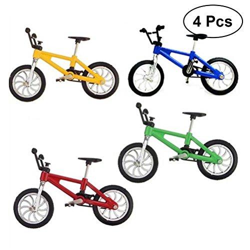 Yeahibaby 4 Unids 1:18 Miniatura Dedo Bicicleta de Montaña Modelo de Juguete Mini Aleación Creativa Juguetes de Bicicleta para Niños Niños Niños