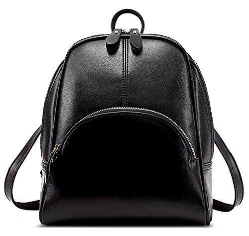 Zicac zaino borsa donna a spalla vintage in PU pelle per scuola viaggio pc libri fare spese colore rosso rosa marrone blu nero