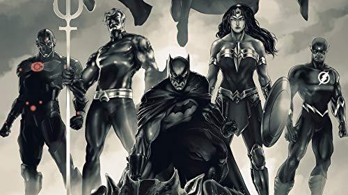 NFGHDD Justice Bat League Filme Poster Puzzle 1000 Pieces, Puzzle Erwachsene, 1000 Teile, Impossible Puzzle, Geschicklichkeitsspiel für die ganze Familie, farbenfrohes Legespiel zu Muttertag