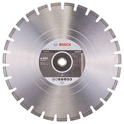 Bosch Professional Diamanttrennscheibe Standard für Asphalt, 450 x 25,40 x 3,2 x 8 mm, 2608602627