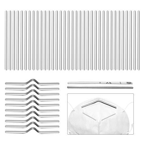 Preisvergleich Produktbild sopplea Metallbügel für Mund Nasen DIY,  Nasenbügel,  Nose Bridge Strip Zubehör DIY 90 * 5mm aus Aluminium,  100 Stück