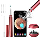 BEBIRD M9 Pro Ear Wax Removal Tool, Wireless Ear Endoscope Camera 1080P FHD with 6 LED Light, Waterproof 3.5mm Ultra-Thin Ear Scope Temperature Control for All Mobile Devices (Red)