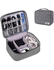 Koyet Electronic Organizer Travel Universal Cable Organizer Electronics Accessories Cases for Cable, Charger, Phone, USB, SD Card