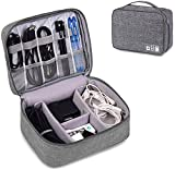 Zurato Waterproof Travel Electronic Gadget Organizer Case, Portable Zippered External Hard Drive...