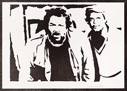 Bud Spencer und Terence Hill Poster Plakat Handmade Graffiti Street Art - Artwork