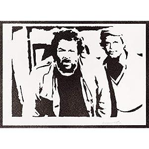 Bud Spencer und Terence Hill Poster Plakat Handmade Graffiti Street Art – Artwork