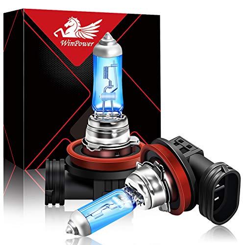 WinPower H8 12V 35W Halogen 5000K Warmweiß Birnen für Auto Tagfahrlicht/ Nebelscheinwerfer, Motorrad Scheinwerferlampe, 2 Stück