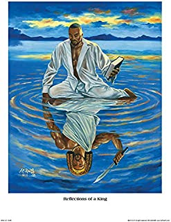 Reflections of a King A.C. Smith Ethnic Fantasy African American Poster 18x24
