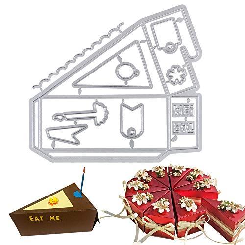 VINFUTUR Stanzschablone Kuchen Torten Box, Metall Prägeschablonen Stanzmaschine Stanzformen Schablonen Schneiden Embossing für DIY Selbstgemacht Hochzeitgeschenkbox Kuchenbox Keksbox Süßigkeitenbox