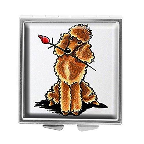 Youroom Apricot - Pastillero Cuadrado Personalizado con Diseño de Amante de los caniche