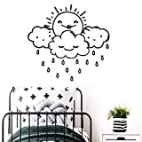 Geiqianjiumai Creative Rain Stickers muraux Art Papier Peint Enfants décoratif...