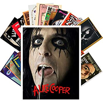 Postcard Set 24 cards ALICE COOPER Rock Music Posters Photos Vintage Magazine covers