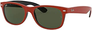 Ray-Ban NEW WAYFARER RB 2132 RED/GREEN 55/18/145 unisex Sunglasses