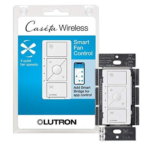 Lutron PD-FSQN-WH Caseta Wireless Smart Fan Speed Control, White
