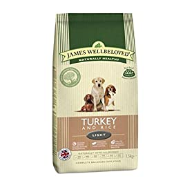 James Wellbeloved Complete Dry Light Dog Food Turkey and Rice, 12.5 kg
