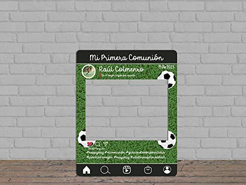 Oedim Photocall Mi Primera Comunión Fútbol Personalizado, photocall Decorativo para comuniones, decoración para Eventos