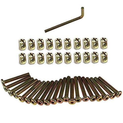 Möbel mit Innensechskant M6 Bolzen und Zylindermutter Innensechskant Möbelrohrschrauben (50mm 41Stk)