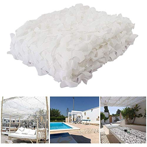 6 * 10ft Sneeuwwitje Camo Netting Camouflage Netto Jacht Militaire Camo Net Bos Leger Camo Netting Camping Tent Pergola Cover 4 * 4m (13 * 13ft)