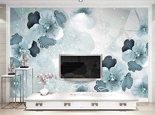 Foto Wallpaper Wandbild - Unrelief Relief Flower Green * 250 * 175cm Benutzerdefinierte 3D Wallpaper DIY Dekor-XXL Wandbild Kunst Wohnzimmer Schlafzimmer Decke Wandbild