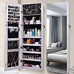 KEEP ALL YOUR JEWELRY ORGANIZED: AOOU jewelry armoire is specially designed to help better storage your valuables and keep all your earrings, bracelets, chains, rings, watches organized and prevent them from getting tangled. 2-IN-1 DESIGN: It is not ...