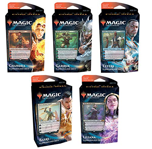 Magic The Gathering 2021-Juego de 5 mazos planeswalker (